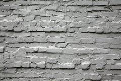 стена кирпича серая старая Стоковые Изображения