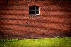 стена кирпича старая красная Англия, Манчестер Стоковое фото RF