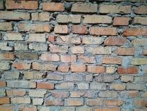 стена кирпича старая красная Стоковое Фото