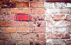 стена кирпича старая красная Стоковая Фотография RF