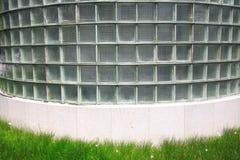 стена кирпича стеклянная Стоковое фото RF