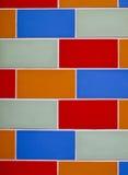 стена кирпича цветастая Стоковое Изображение