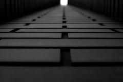 Стена кирпича черная классицистический фасад Стоковое Фото