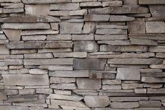 Стена класть фасада здания, o декоративного кирпича неровный Стоковое Изображение