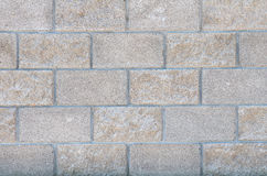 Стена конкретных декоративных кирпичей Стоковое фото RF