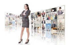 Стена концепции дела стоковые изображения
