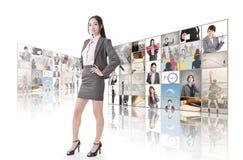 Стена концепции дела стоковое фото