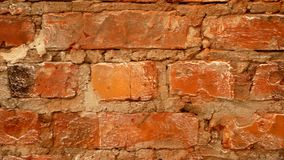 Стена красного кирпича Видео для предпосылки видеоматериал