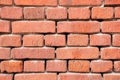 Стена красного кирпича с швами без цемента Стоковая Фотография