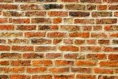 стена красного цвета кирпича предпосылки Стоковая Фотография