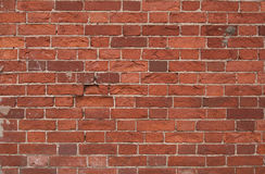 стена красного цвета кирпича Стоковое Фото