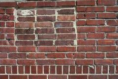 стена красного цвета кирпичей Стоковые Фото