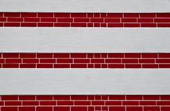 стена красного цвета слоя кирпича Стоковые Изображения