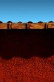 стена красного цвета 01 экспрессиониста Стоковая Фотография