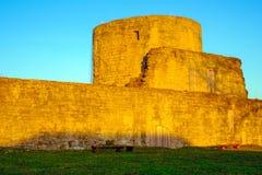 Стена крепости в лучах солнца Стоковое Изображение RF
