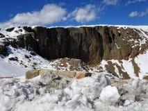 Стена лавы стоковое изображение rf
