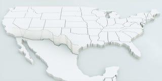 Стена между США и Мексикой Высоки детальный перевод 3D Иллюстрация вектора
