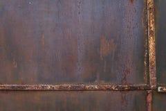 Стена металла с рамкой ржавчины и металла Стоковые Фотографии RF