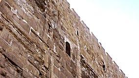 Стена мечети al-Aqsa в Иерусалиме сток-видео