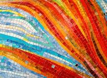 стена мозаики предпосылки цветастая стеклянная Стоковая Фотография
