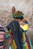 стена молитве Иерусалима голося Стоковое фото RF
