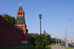 Стена Москва Кремль, Россия Стоковое Изображение RF