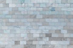 Стена мраморных сер-голубых плиток Красивая каменная текстура предпосылка пустая Стоковое Изображение RF
