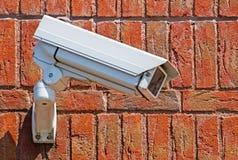 стена наблюдения обеспеченностью принципиальной схемы камеры Стоковое Изображение RF
