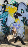 стена надписи на стенах девушки сексуальная Стоковые Изображения
