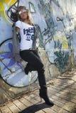 стена надписи на стенах девушки сексуальная Стоковая Фотография RF