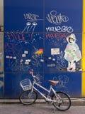 Стена надписи на стенах, Shibuya, Токио, Япония Стоковое Изображение RF
