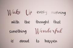 Стена написанная для оптимизма - проспите вверх по чудесному Стоковые Изображения RF
