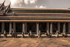 Стена наследия в Бангкоке, Таиланде стоковое фото rf
