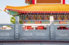 Стена на китайском виске Стоковая Фотография