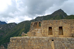 Стена на Machu Picchu Стоковое Изображение