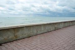 Стена около моря Стоковое Изображение RF