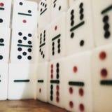 Стена домино Стоковые Изображения
