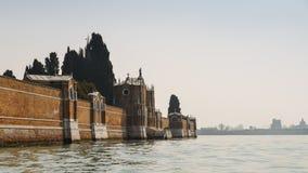 Стена острова кладбища Сан Мишели, Венеции, Италии Стоковое фото RF