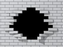 стена отверстия кирпича иллюстрация вектора