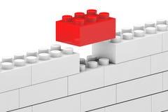 Стена от блоков пластмассы детей Стоковые Фото