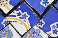 Стена от красочных керамических плиток для предпосылки Стоковое Изображение RF