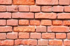 Стена от старого красного кирпича без цемента Стоковое Фото