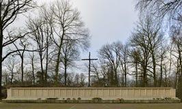 Стена памяти места исполнения стоковая фотография rf