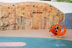 Стена парка детей взбираясь Стоковая Фотография