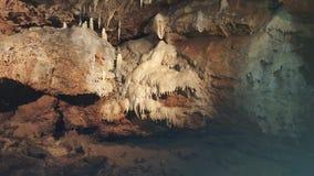 Стена пещеры с dripstones Стоковое Изображение RF