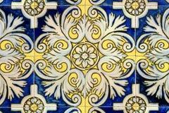 стена плиток barcelona старая Стоковая Фотография RF