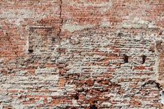 стена поврежденная кирпичом Стоковые Фотографии RF