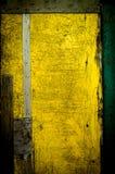 Стена покрашенная в желтом цвете Стоковая Фотография RF