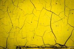 Стена покрашенная в желтом цвете Стоковая Фотография