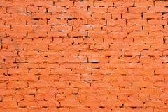 стена покрашенная кирпичом красная Стоковое Изображение RF